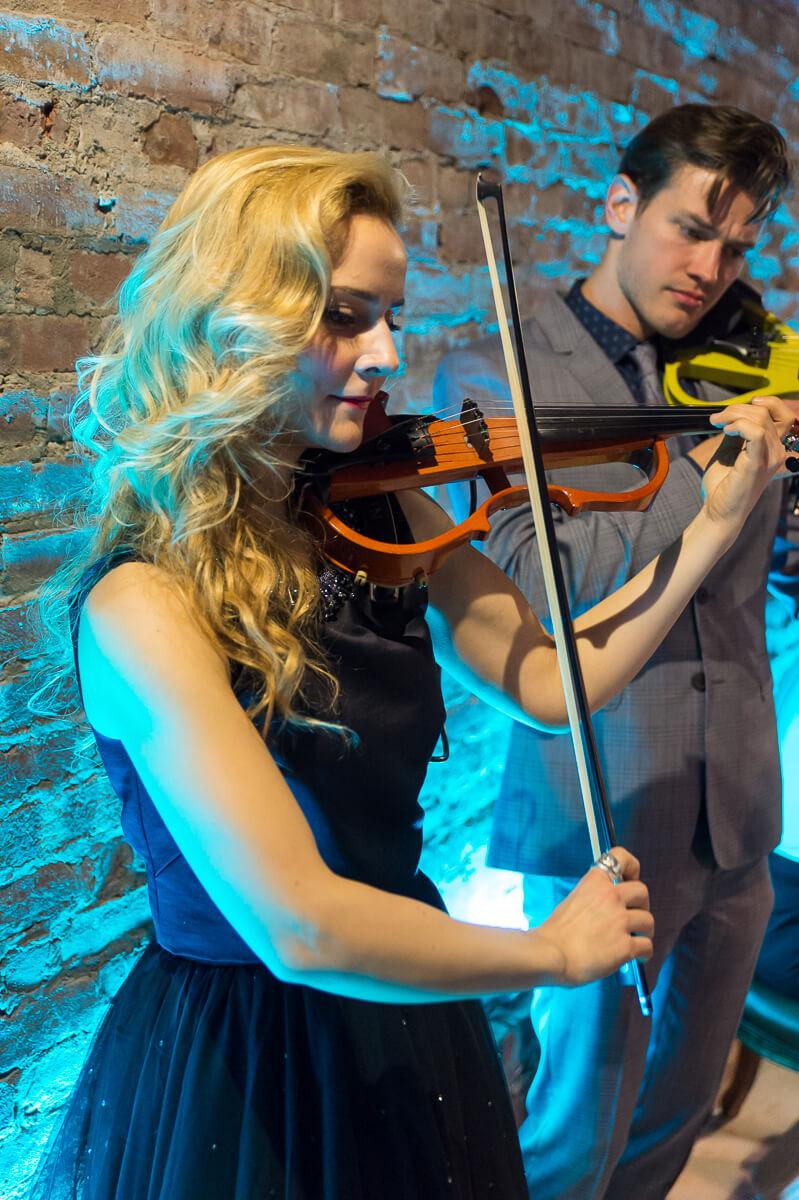female Electric violinist