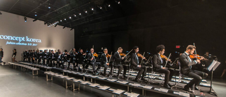 New York Fashion Week Male Orchestra